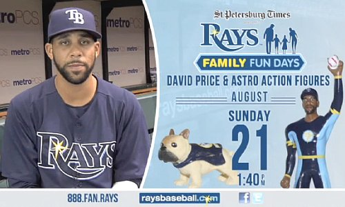 Rays giving out action figure of 'superhero' David Price —and dog