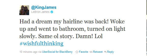 Even LeBron James is aware of your jokes about his hair