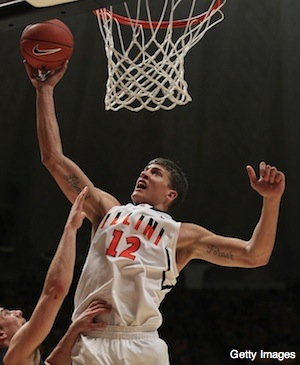 Illinois moves to 8-0 with upset of No. 19 Gonzaga