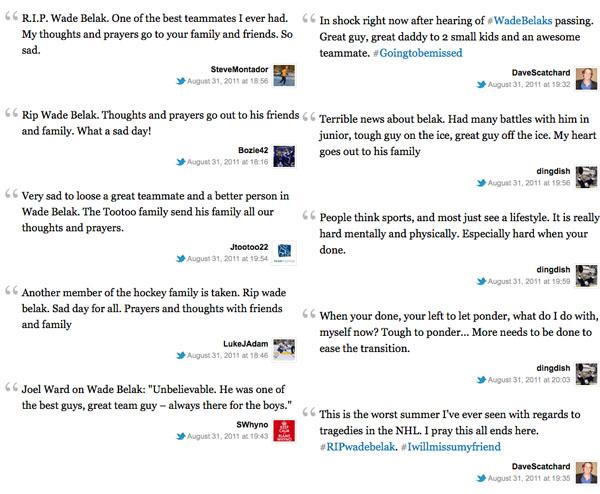 Remembering Wade Belak, a true NHL fan favorite