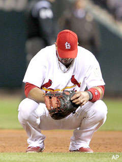 Weak: Albert Pujols leaves without a word after Game 2 loss