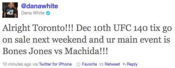 With Jones vs. Machida at UFC 140, Evans odd man out again