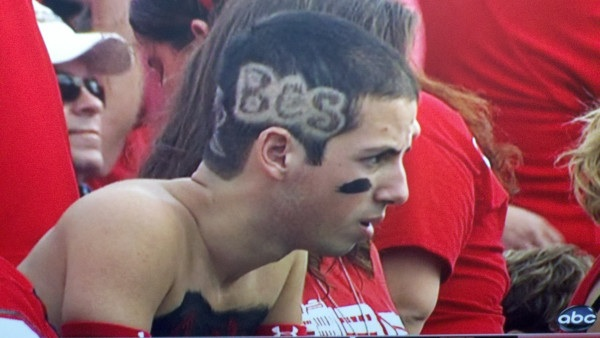 Houston fan jumps the gun with 'BCS' haircut