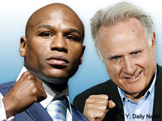 Triple threat match! Now White and Merchant are trading barbs over Mayweather postfight