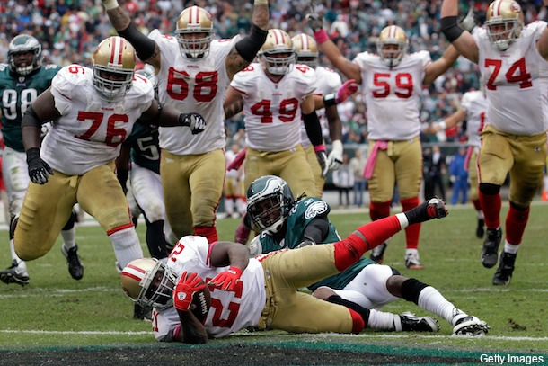 Frank Gore thinks the Eagles threw in the towel on Sunday