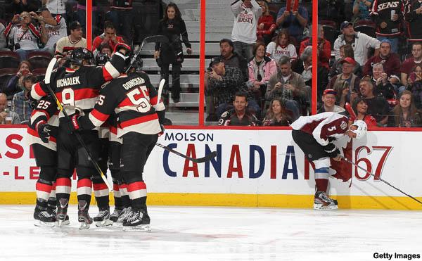Hockey Hugs: leaping superhugs; Bobby Ryan, counselor