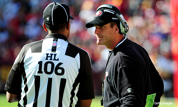 Adventures in Officiating: Rivera looking for refs' respect; Harbaugh draws Pereira's ire