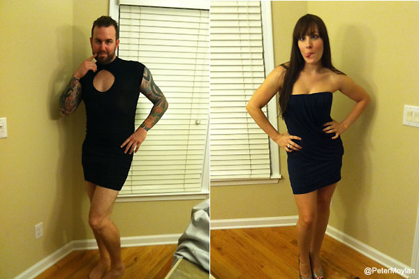 Truth: Peter Moylan's fiancée looks better in a dress than he does