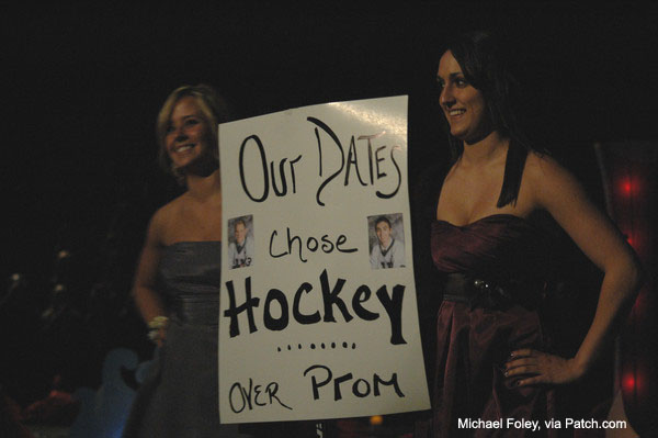 When your date chooses hockey over senior prom
