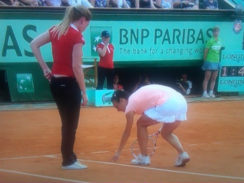 Schiavone goes from set point to finals loss after umpire's overrule