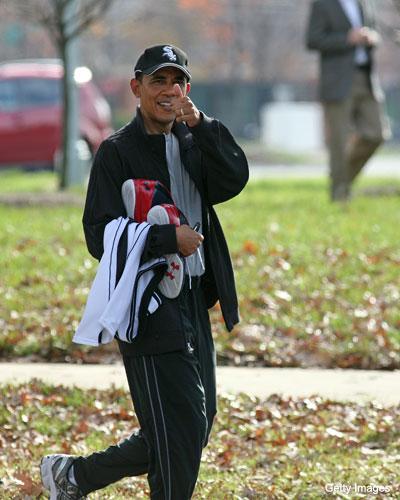 President Obama has Brandon Jennings' new shoes