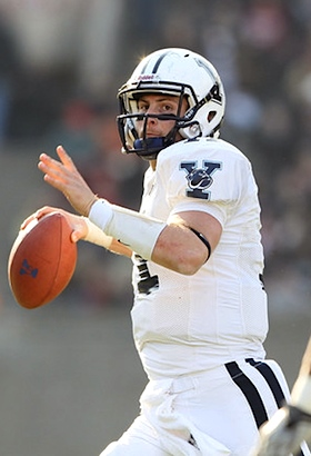 Yale QB chooses 'athlete' over 'student,' forgoes Rhodes scholarship to play Harvard