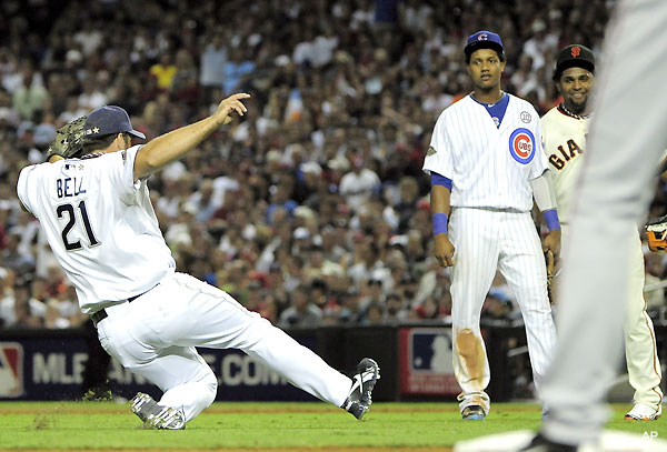 Man down! Heath Bell slides his way into All-Star appearance