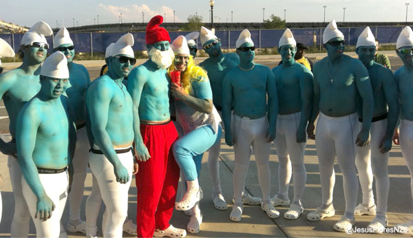 Best rookie gag ever: Strasburg and Co. dressed as giant Smurfs