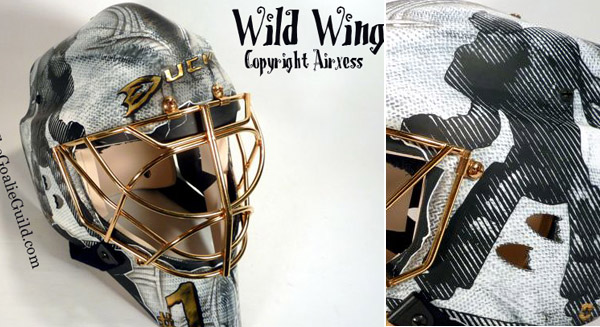 Check out Ducks goalie Jonas Hiller's new 3-D mask