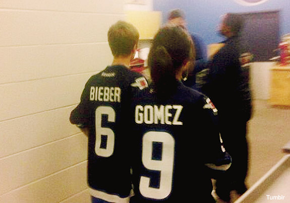 Jersey Fouls: Justin Bieber and Selena Gomez edition