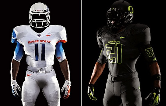 Nike contemplates the nature of good and evil via Boise State, Oregon's opening-night uniforms