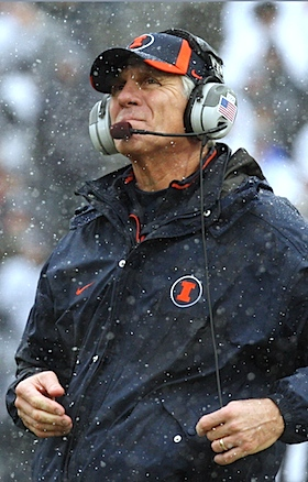 Illinois scribes can still ask Ron Zook about his future, but Ron Zook's not going to answer that