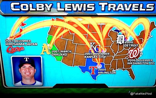 Ha-ha! Fox's Colby Lewis graphic moves K.C. Royals to Kansas