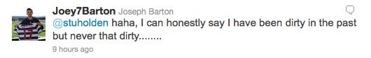 Joey Barton denies Senderos' filthy accusation