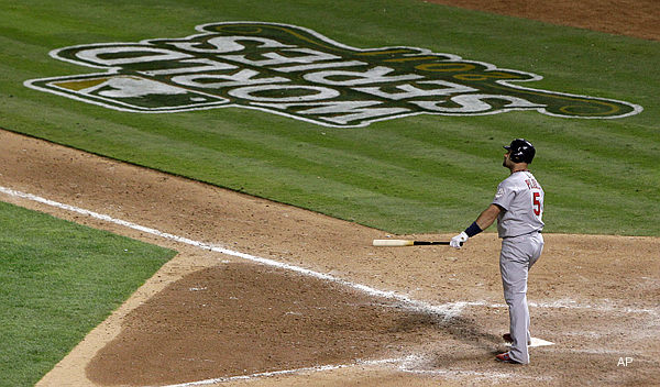 World Series Game 3: Pujols rules with record three homers, five hits