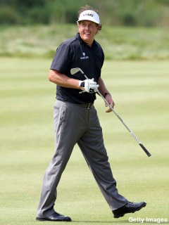 Phil Mickelson gets in the mix with third round 63