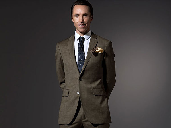 Introducing Steve Nash's new clothing line, and side-parted hair