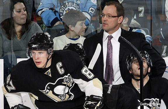 Bylsma talks Sidney Crosby's ice time, getting hit in NHL return