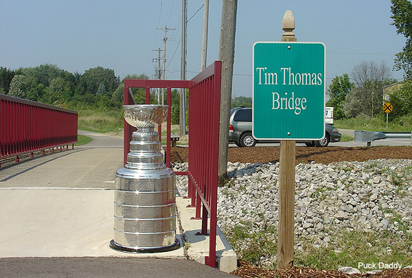 Tim Thomas now has a bridge named after him in Michigan