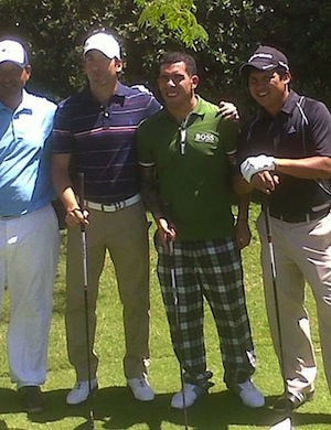 AWOL Carlos Tevez wins golf tournament, wears plaid pants