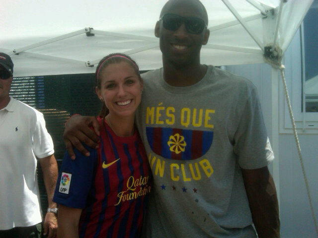 Kobe Bryant scores own goal in Mia Hamm's charity match