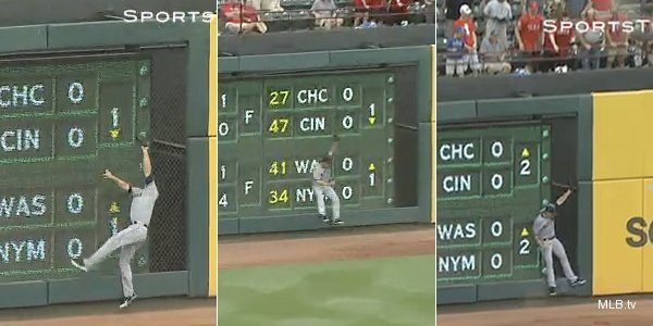 Indians' Duncan makes three straight identical leaping catches