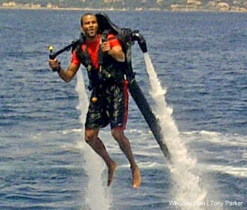 Tony Parker goes on a jetpack adventure