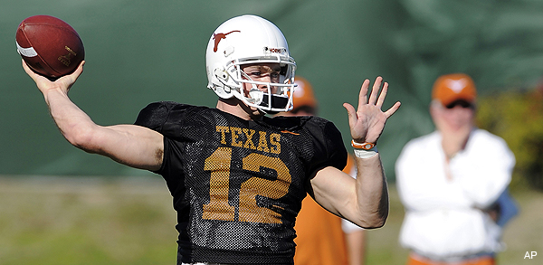 Did Colt McCoy's wife just blow a hole in Texas football?