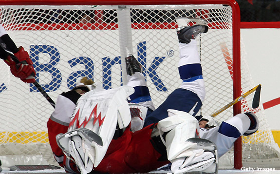 The 7 great skater vs. goalie collisions that resulted in hilarity, chaos