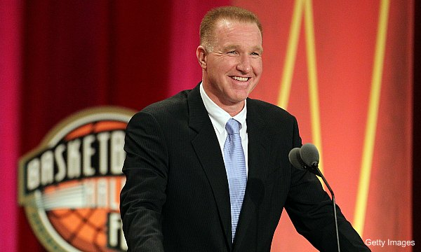 Chris Mullin is teaching a Broadway performer to shoot a basketball
