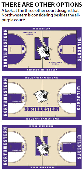 Northwestern considers installing an all-purple basketball court