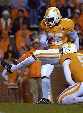 Tennessee grabs last-second kicker off his frat house couch