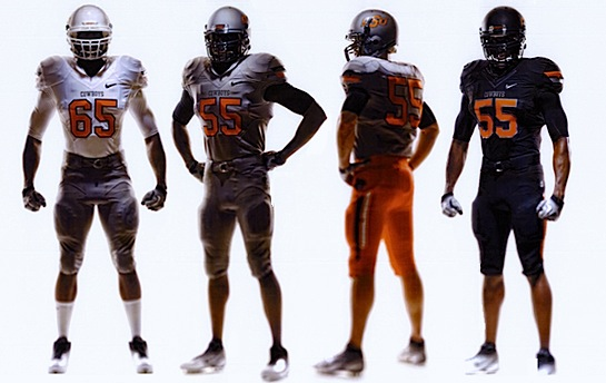 Oklahoma State's postmodern makeover is black and gray and orange all over