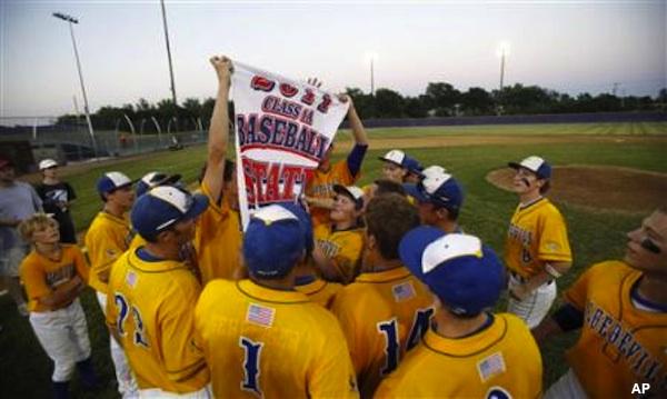 The Martensdale St. Marys baseball team
