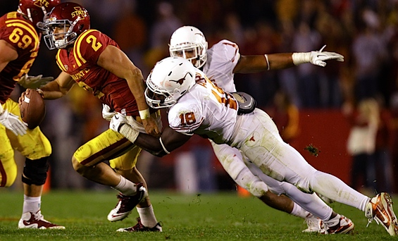 Green offense is buzzing, but the next phase of Texas' coming of age begins with old 'Horns on D