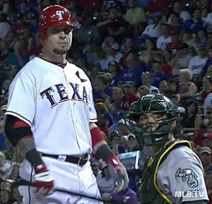 Fan requires stitches after being struck by Josh Hamilton foul ball