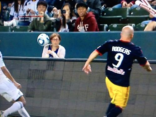 DTotD: Luke Rodgers blasts ball at woman's head