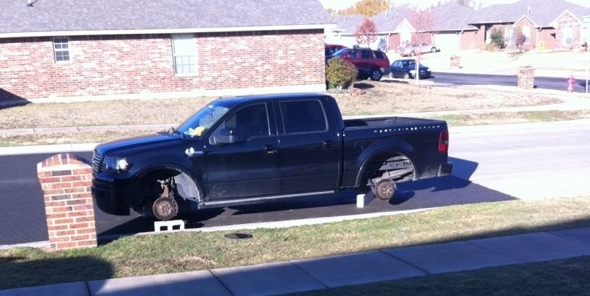 Landry Jones' truck was a victim of tire-jacking