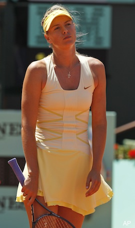 As expected, Sharapova's serve leads to her French Open demise