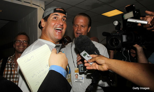 Mark Cuban will pay for your $110,000 bar tab. And your parade