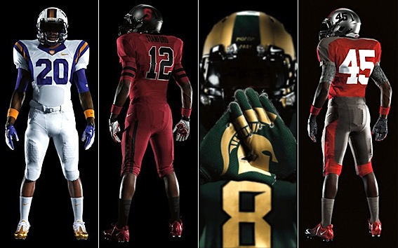 Nike's assault on conventional football fashion continues via Tigers, Cardinal, Spartans, Buckeyes