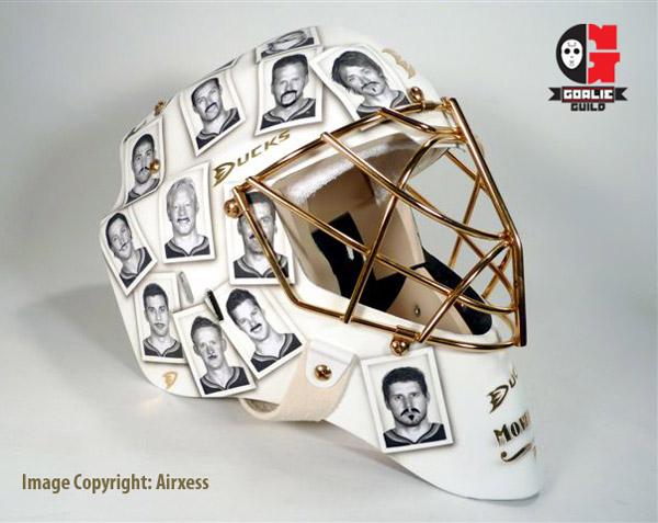 Instant classic: Ducks goalie Jonas Hiller's Movember mask