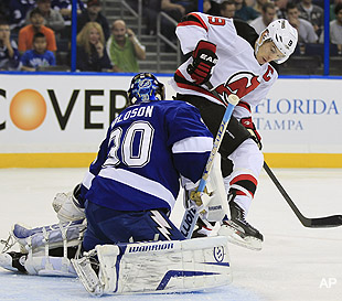 Monday's Three Stars: Parise leads Devils over Bolts