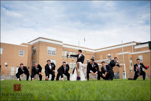 Joe Flacco makes his wife play center in a wedding photo